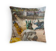 Animals - Vintage Carousel (1/3) Throw Pillow