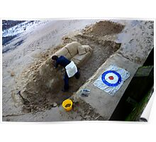 working against the tide - river thames artist, london Poster