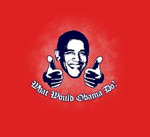 What Would Obama Do? (White and Navy on Red) Unisex T-Shirt