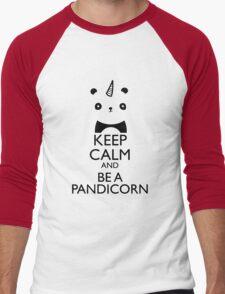 keep calm and be pandicorn Men's Baseball ¾ T-Shirt