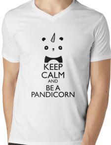 keep calm and be pandicorn Mens V-Neck T-Shirt