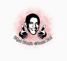 What Would Obama Do? (Black and Red on White) Unisex T-Shirt