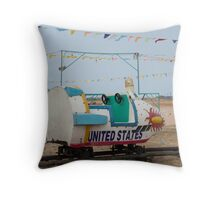 Vintage carousel -(3/3) Usa Spaceship Throw Pillow