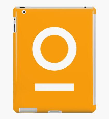 LNOF 'O' Logo white on Orange iPad Case/Skin