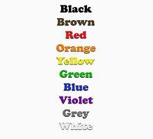 Resistor Code 9 - Colour Listing Unisex T-Shirt