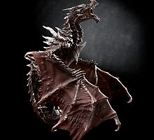 Alduin dragon from Skyrim game by Arletta Cwalina