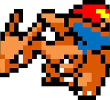 Pokemon 8-Bit Pixel Charizard 006 by slr06002