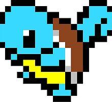 Pokemon 8-Bit Pixel Squirtle 007 by slr06002