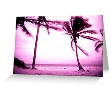 STORMY PALM Greeting Card