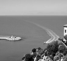 Agropoli: landscape with sea by Giuseppe Cocco