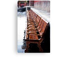 Forbidden City Long Bench Canvas Print
