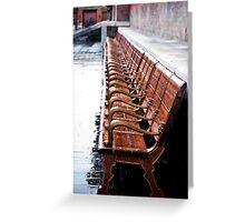 Forbidden City Long Bench Greeting Card