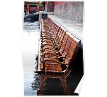 Forbidden City Long Bench Poster