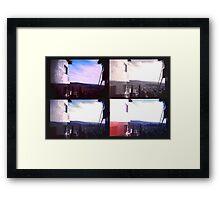 LA Hill Huts Framed Print
