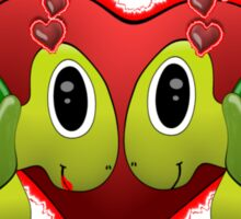 Turtle Love Tee Sticker