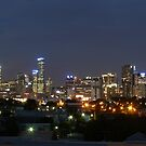Melbourne at Night by Joan Wild
