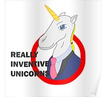Really Inventive Unicorns Poster