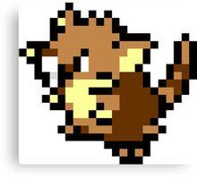 Pokemon 8-Bit Pixel Raticate 020 Canvas Print