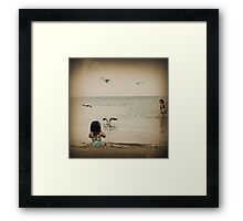 Here come the seagulls Framed Print