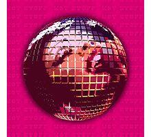 70s Pink & Hot Stuff Disco Ball Photographic Print