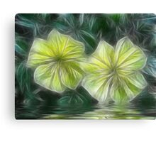 Morning Glory Fractalius Canvas Print