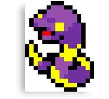 Pokemon 8-Bit Pixel Ekans 023 Canvas Print