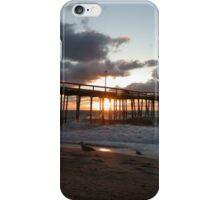 Sunrise through pier  iPhone Case/Skin