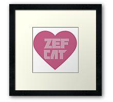 Zef Cat Framed Print