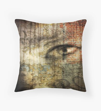 look but do not see Throw Pillow