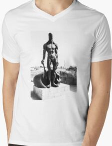 Naked guard Mens V-Neck T-Shirt