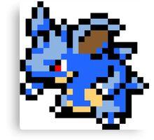 Pokemon 8-Bit Pixel Nidoqueen 031 Canvas Print