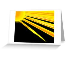 Sunflower Rays Greeting Card