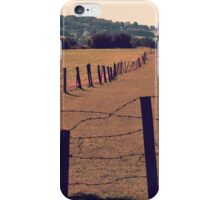 Vintage Fence and Field iPhone Case/Skin