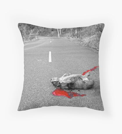 Red Carnage Throw Pillow
