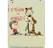 calvin and hobbes shoot on iPad Case/Skin