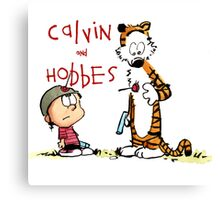 calvin and hobbes shoot on Canvas Print