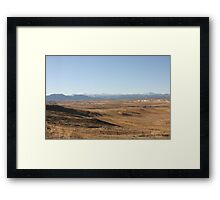 A Browner View Framed Print