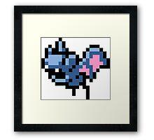 Pokemon 8-Bit Pixel Zubat 041 Framed Print