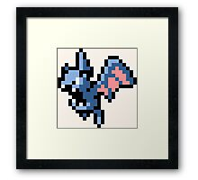 Pokemon 8-Bit Pixel Golbat 042 Framed Print