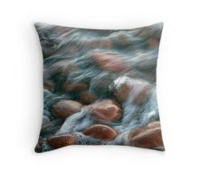 Superior  Beach Rocks  Throw Pillow
