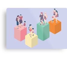 Isometric Infographic Family Types - LGBT included Metal Print