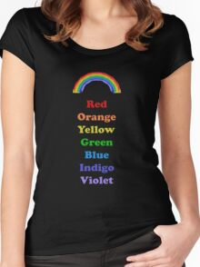 Colours of the Rainbow Women's Fitted Scoop T-Shirt