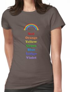 Colours of the Rainbow Womens Fitted T-Shirt