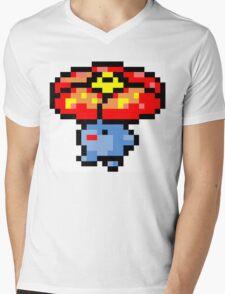 Pokemon 8-Bit Pixel Vileplume 045 Mens V-Neck T-Shirt