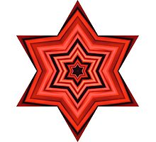 Star of Faith - Red Photographic Print