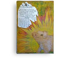 The Pig.;- Chinese Horoscopes, Your Year. Canvas Print