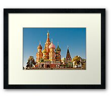 St. Basil Cathedral, Red Square, Moscow Framed Print