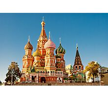 St. Basil Cathedral, Red Square, Moscow Photographic Print