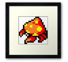 Pokemon 8-Bit Pixel Parasect 047 Framed Print