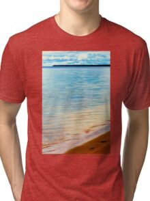 Sand Footprints Tri-blend T-Shirt